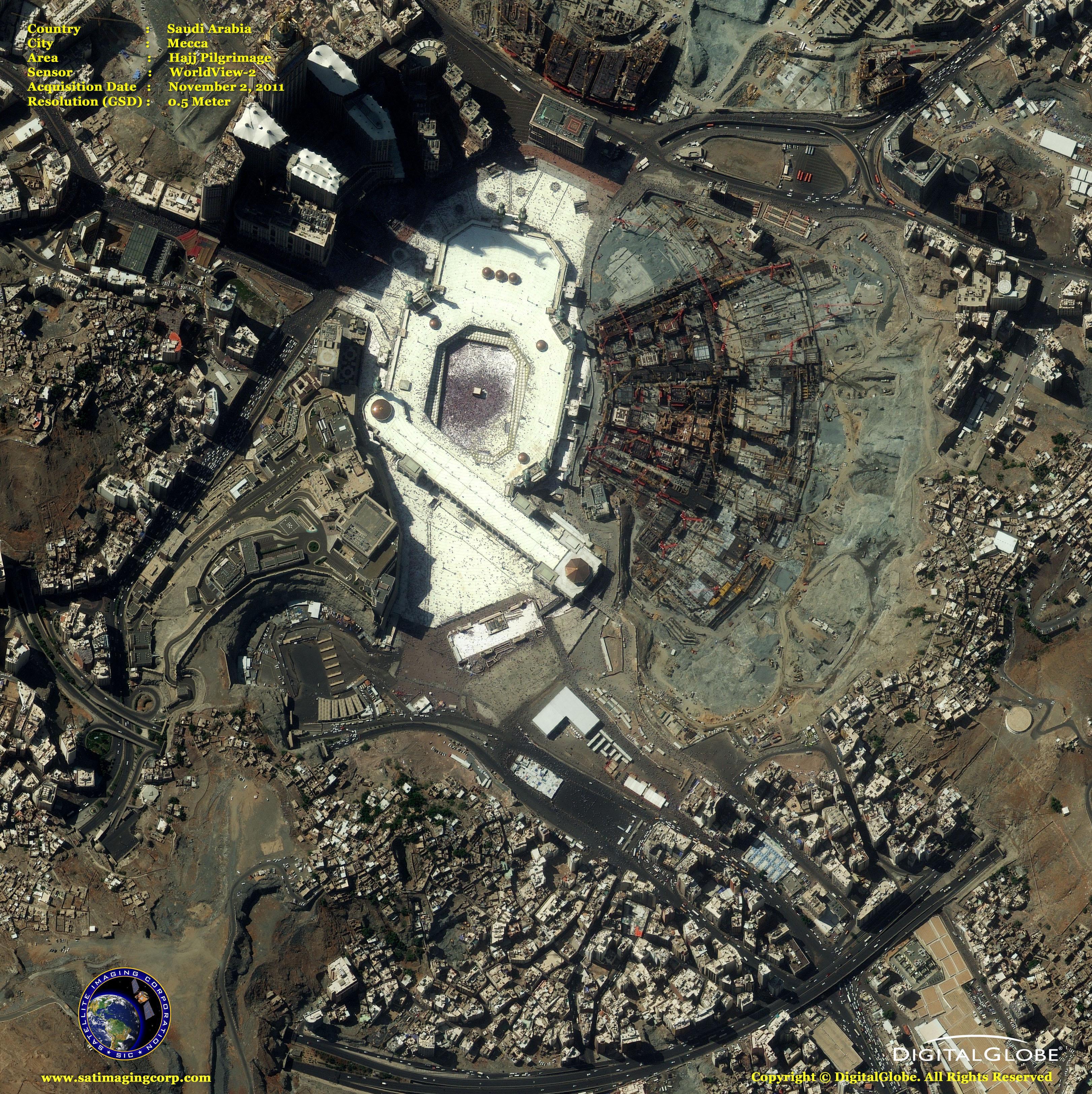 Mekkaja Terkep Muholdas Terkep Mekkaja Terkep Muhold Szaud Arabia